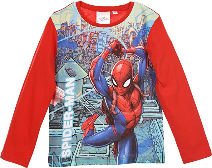 Spiderman - Pijama Dos Piezas - para niño Rojo 98 cm: Amazon.es ...