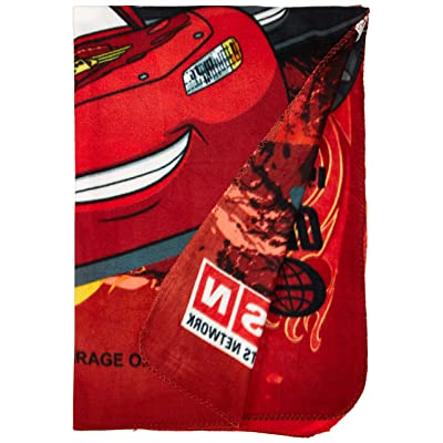 "Disney Cars Blanket Fleece Throw Lightning Mcqueen 46""x60"": Home & Kitchen"