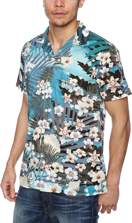 Desigual Polinesia Camisa, Verde (Verde Aventura), XS para Hombre: Amazon.es: Ropa y accesorios