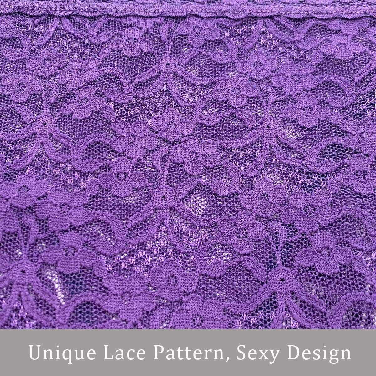 Assorted 8 Different Lace Pattern Colors Pmrxi Pack of 8 Women Lace Bikini Panties