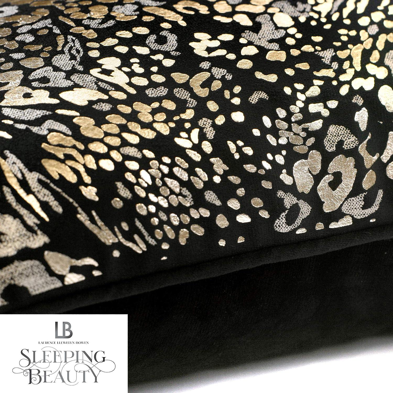 in Black 17x17 Animal Laurence Llewelyn-Bowen Luxury Velvet Filled Cushion 43x43cm
