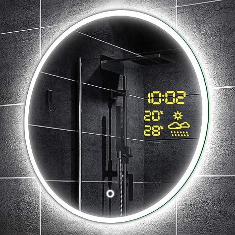 Alasta Design Lichtspiegel Rund Mit Led 60 Cm Delhi