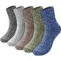 Emooqi Calcetines Para Hombre, 5 pares calcetines algodon hombre/Calcetines hasta la pantorrilla para hombre súper…