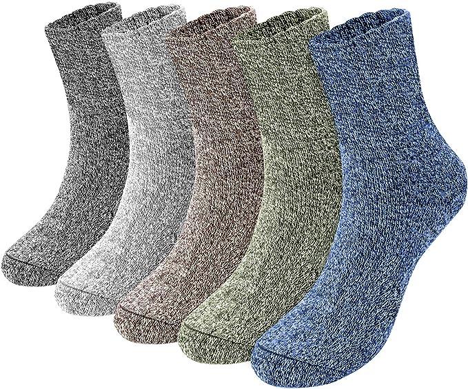 Emooqi Calcetines Para Hombre, 5 pares calcetines algodon hombre/Calcetines hasta la pantorrilla para hombre súper cálidos y suaves y cómodos: Amazon.es: Ropa y accesorios