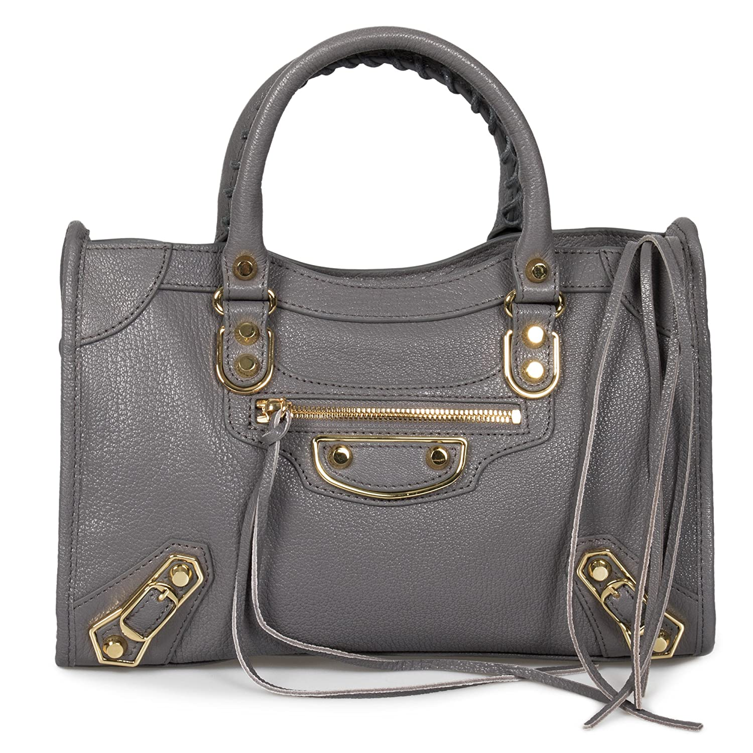 e2911f23e6 Balenciaga Classic Metallic Edge City Bag | Silver with Gold Hardware |  Small: Balenciaga: Amazon.ca: Shoes & Handbags