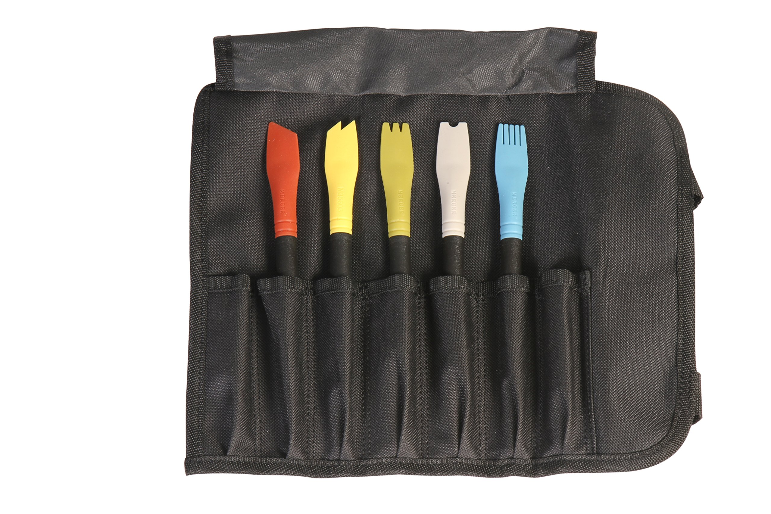 Mercer Culinary Silicone Plating Brush Set - 5 Brushes and a Carrying Case by Mercer Culinary