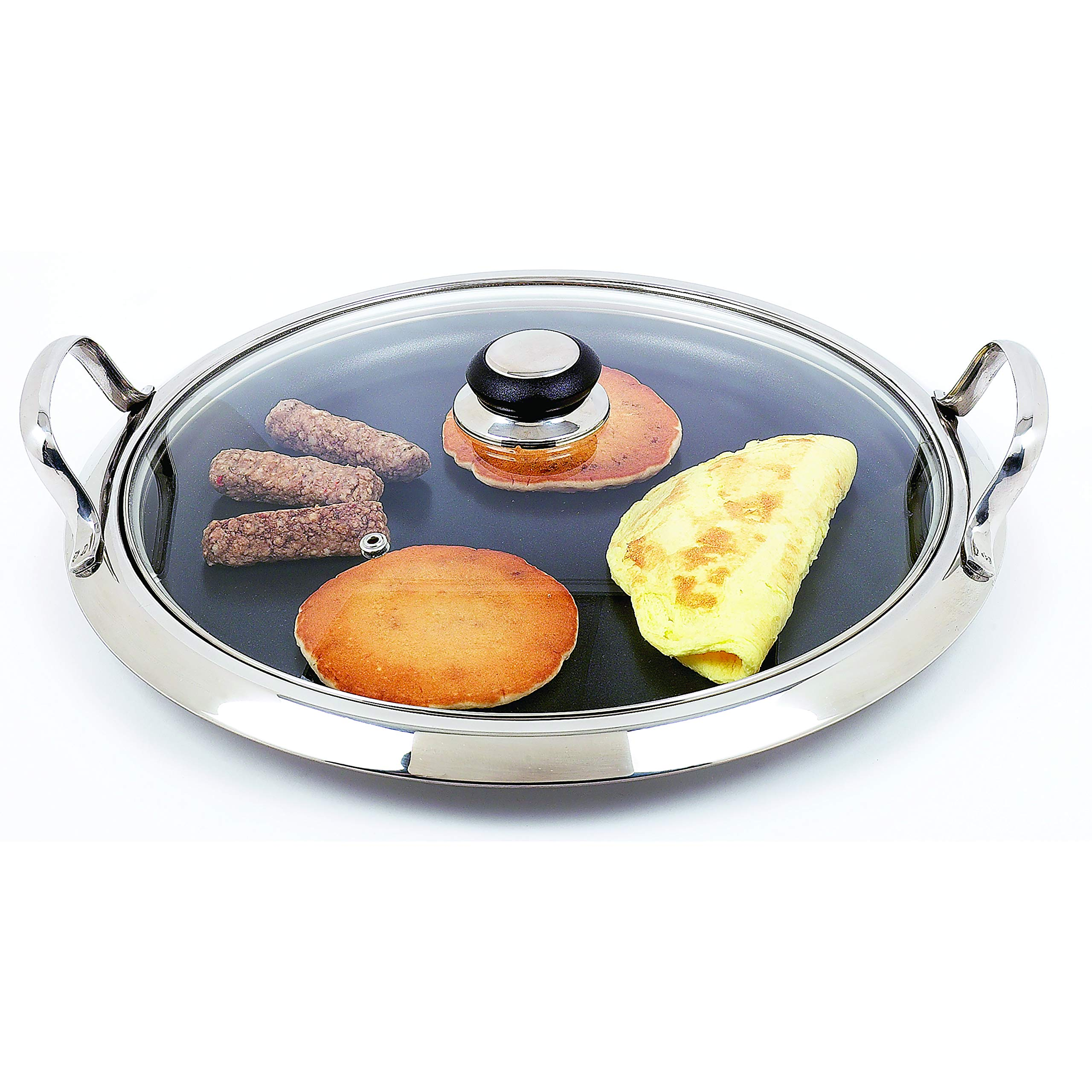 Chef's Secret by Maxam 12-Element Stainless Steel Round Griddle by Maxam