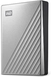 Western Digital My Passport Ultra USB-C Drive, WDBFTM0040BSL-WESN,Silver,4TB