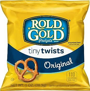 40 Pack Rold Gold Tiny Twists Pretzels 1oz Bags
