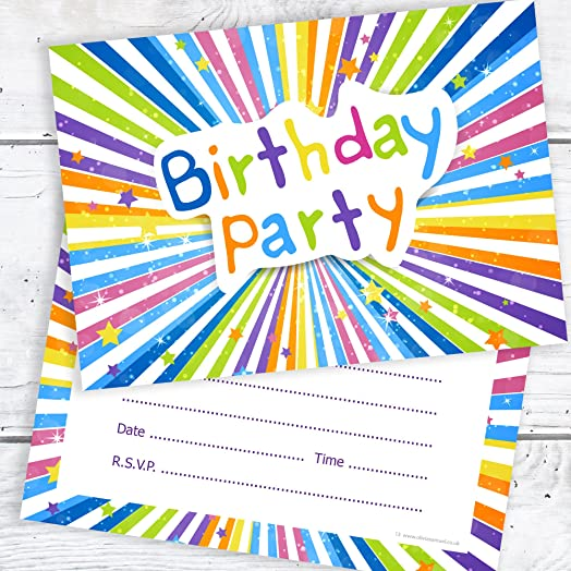 Childrens Birthday Party Invitations Kids Ready to Write Party
