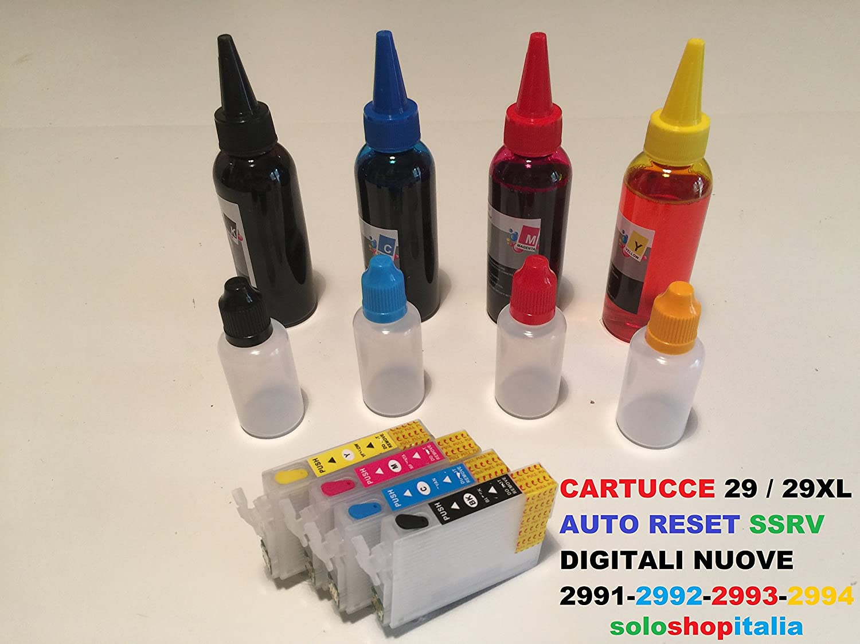 Cartuchos Recargables para Epson Serie 29/29 x l Coche Reset + 400 ...