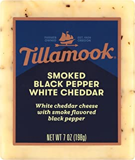 product image for Tillamook Smoked Black Pepper White Cheddar Cheese Slices, 7 oz (Packaging May Vary)