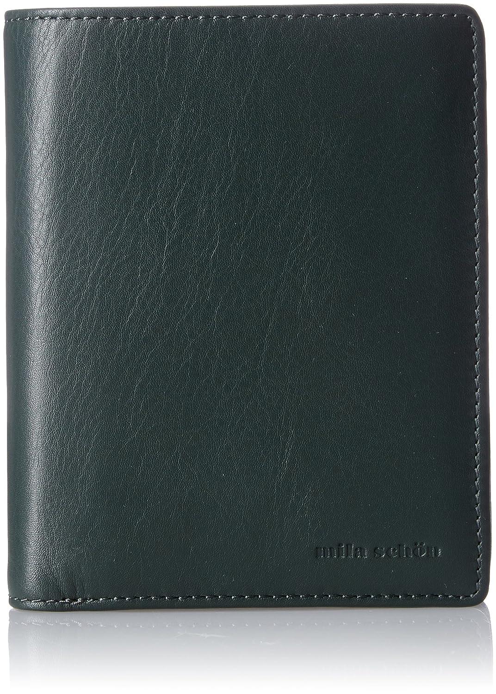 [ミラショーン] 中ベラ付き二つ折り財布 MSMW7JS3 B073RCV1PR グリーン グリーン