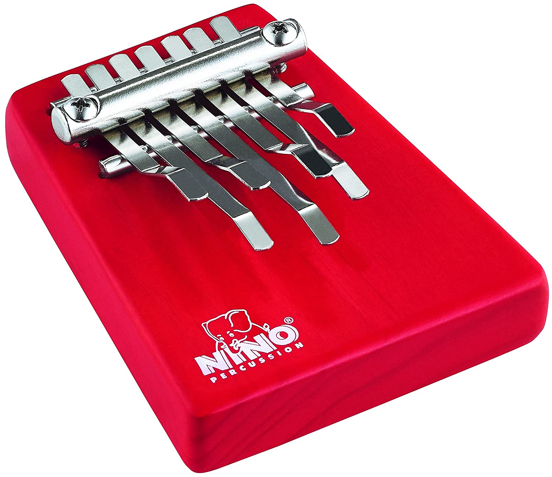 Nino Percussion NINO964R Medium Wood Kalimba, Red