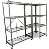 Origami R5C-PEWTER Corner Shelf Rack, Pewter