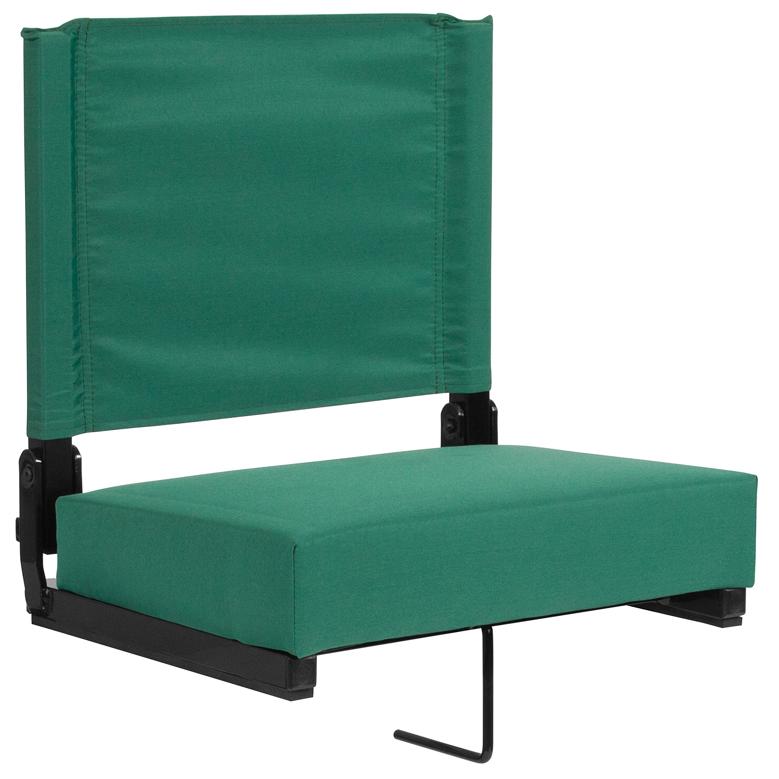 Flash Furniture Grandstand Comfort Seats by Flash with Ultra-Padded Seat in Hunter Green by Flash Furniture