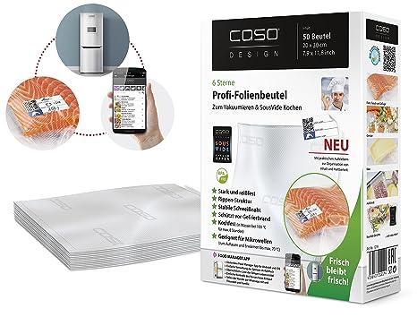 Caso Profi-Sacs - Bolsas de plástico para envasar alimentos, 20 x 30 cm, 50 unidades