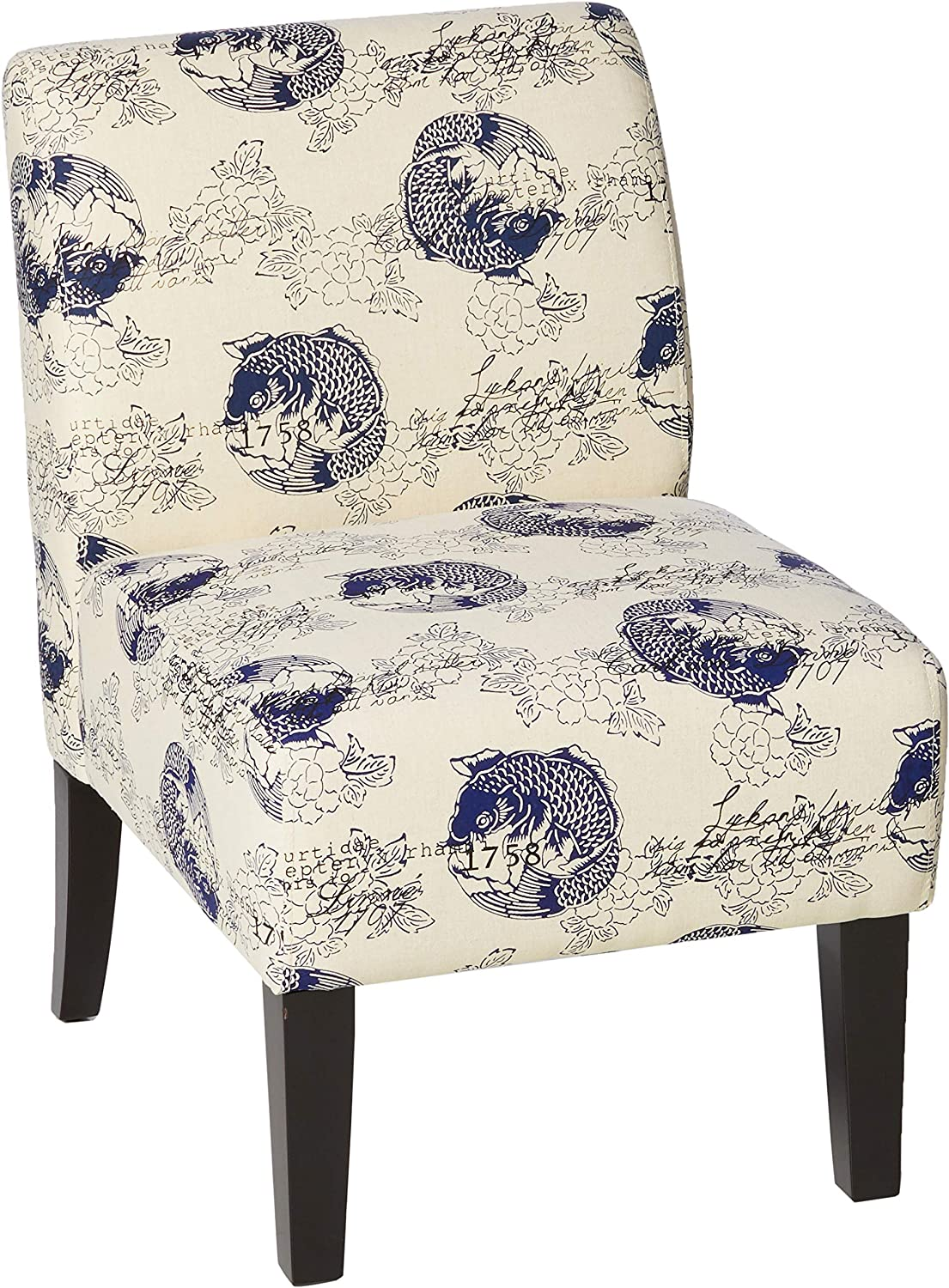 ACME Ollano Accent Chair - 59439 - Pattern Fabric