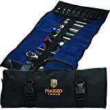 32 Pocket Tool Roll Organizer - Wrench Organizer & Tool Pouch - Wrench Roll Includes Pouches for 10 Sockets - Roll Up…