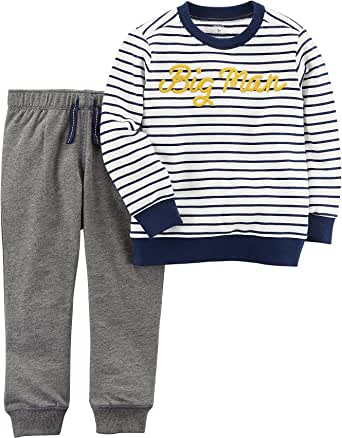 Carter's Baby Boys' Big Man French Terry Pullover and Joggers Set