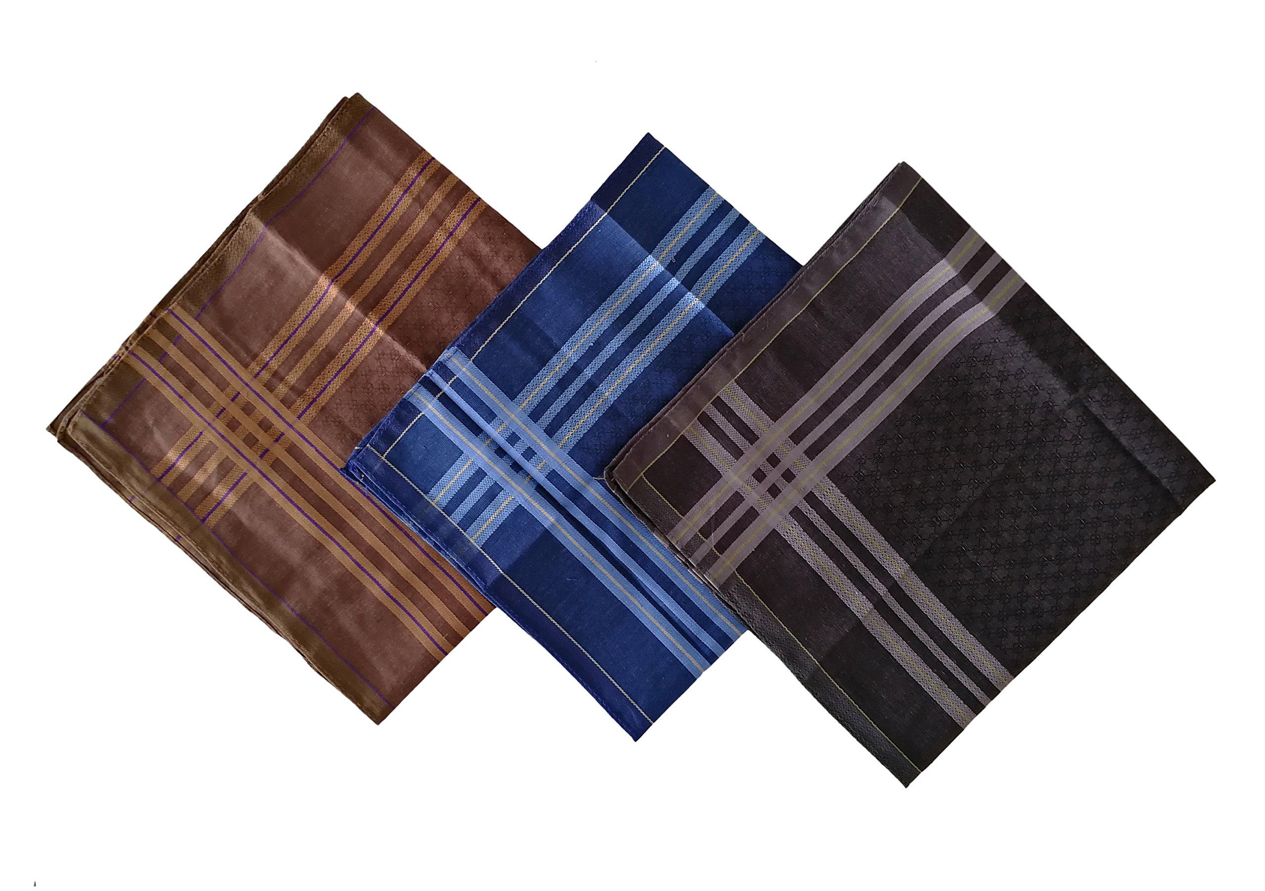 12PCS KINGREE Mens and Boys Gentleman Vintage Casual Hankie Cotton Handkerchiefs, 100% Cotton Men's Handkerchief (12PCS-Mix28)