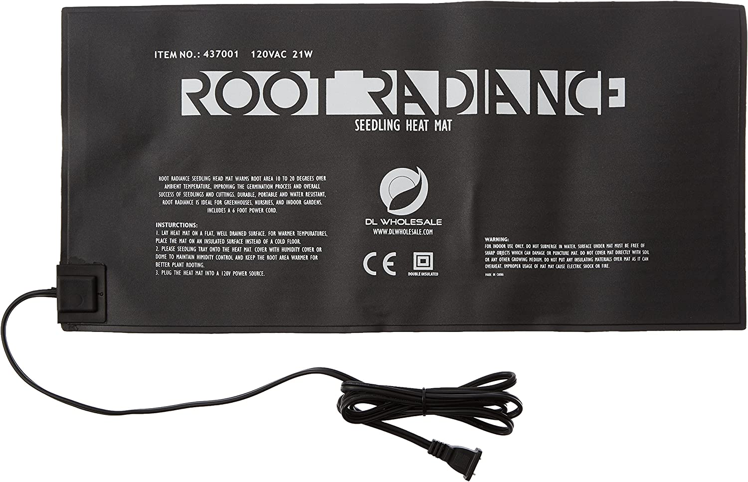 Root Radiance Warm Hydroponic Heating Pad, 20.75 by 10-Inch