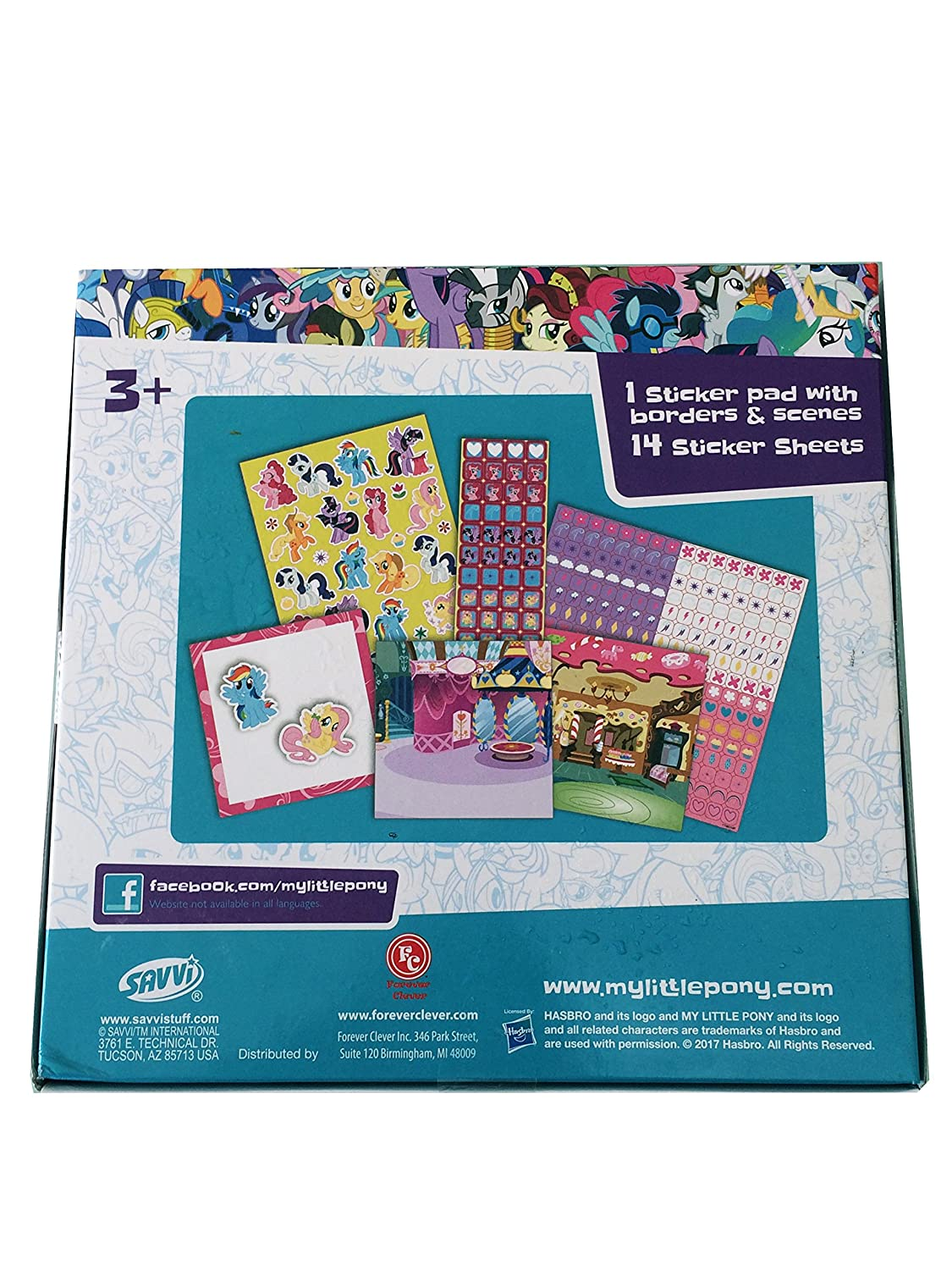 Secret for Longevity Little Pony Horse 1000 Stickers Sheet Roll w// Book Pad Gift Set Party Favor Scrapbooking
