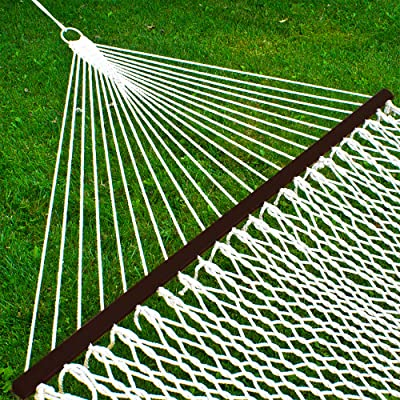 Best Choice Products 2-Person Woven Cotton Rope Double Hammock for Backyard w/Spreader Bars, Carrying Case : Garden & Outdoor
