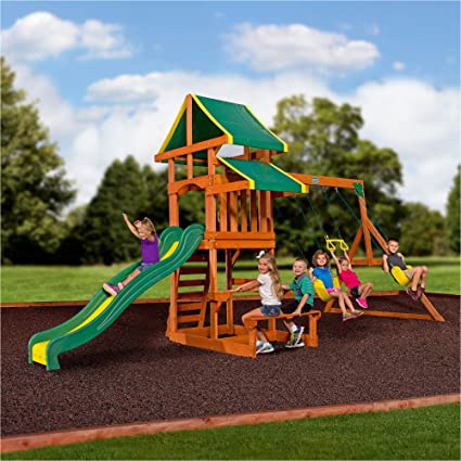 Backyard Discovery Tucson Cedar Wooden Swing Set