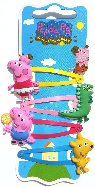 Peppa Pig - Pinzas para el pelo, diseño de los personajes de Peppa Pig: Amazon.es: Juguetes y juegos