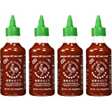 Huy Fong, Sriracha Hot Chili Sauce, 9 Ounce Bottle (4 Pack)