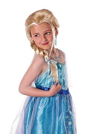 Jakks pacific uk Disney Frozen - Peluca de Elsa para niña de 3-4 años