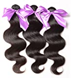"AAAAAAA 7A grade Body Wave Mixed Length 20"" 22"" 24"" Brazilian Virgin Hair Body Wave Remy Human Hair Weave Weft 3 Bundles 300 Grams Natural Color 100% Unprocessed Brazilian Human Hair Weaves Extensions"