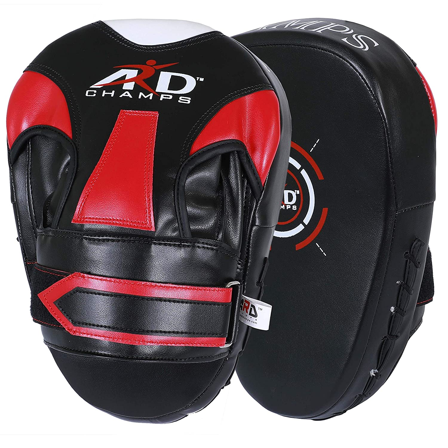 Jayefo Bundle Focus Pads Mitts With Boxing Gloves Hook Jab Punch Bag Kick MMA