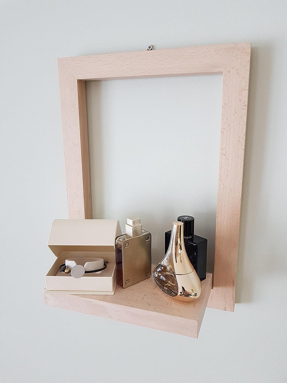 Tuuli Accessories Mensola da Muro Mensole da Parete Deco per Soggiorno Bagno Cucina Legno Decorazione