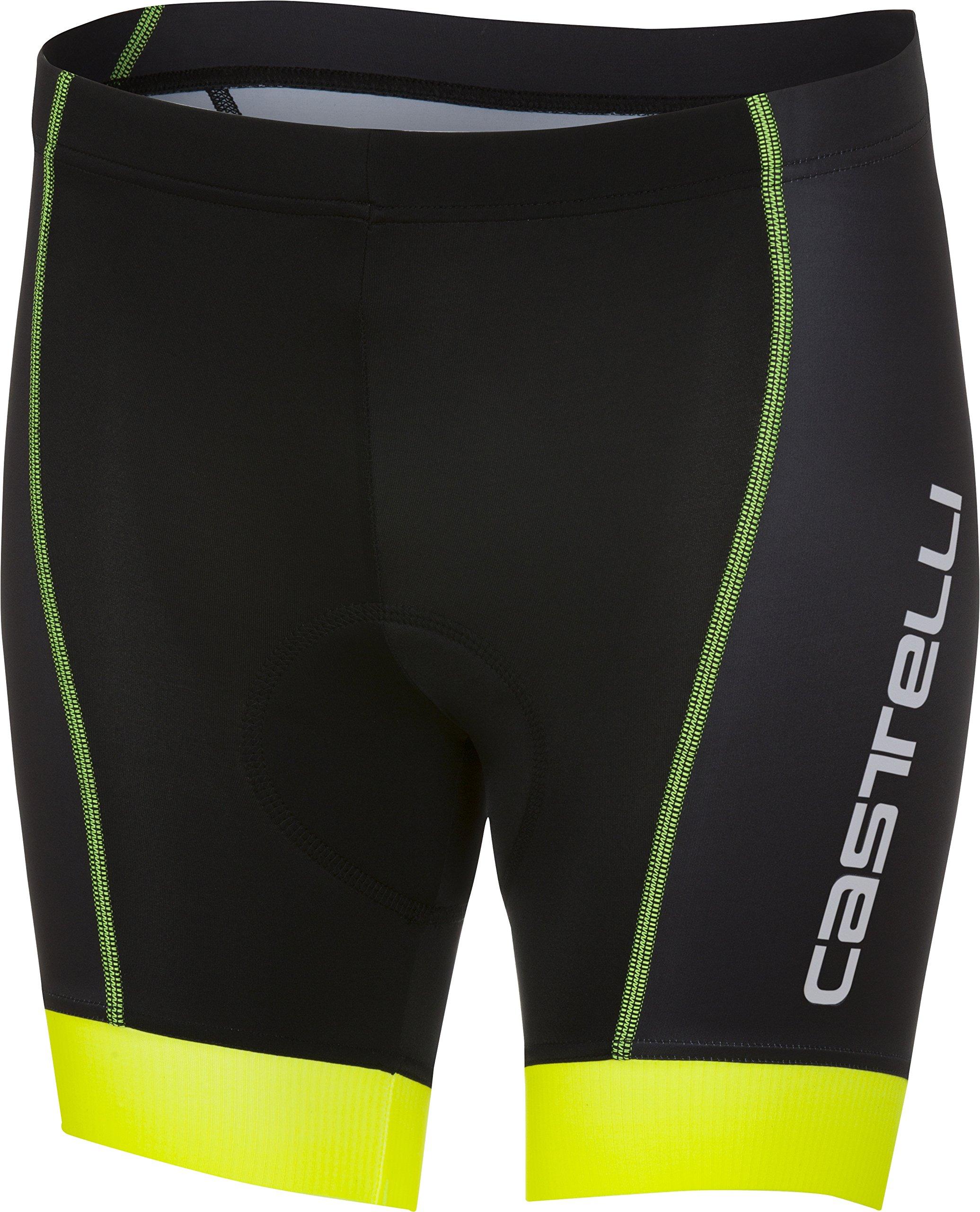 Castelli Future Racer Kid Short Black/Yellow Fluo Size YXL