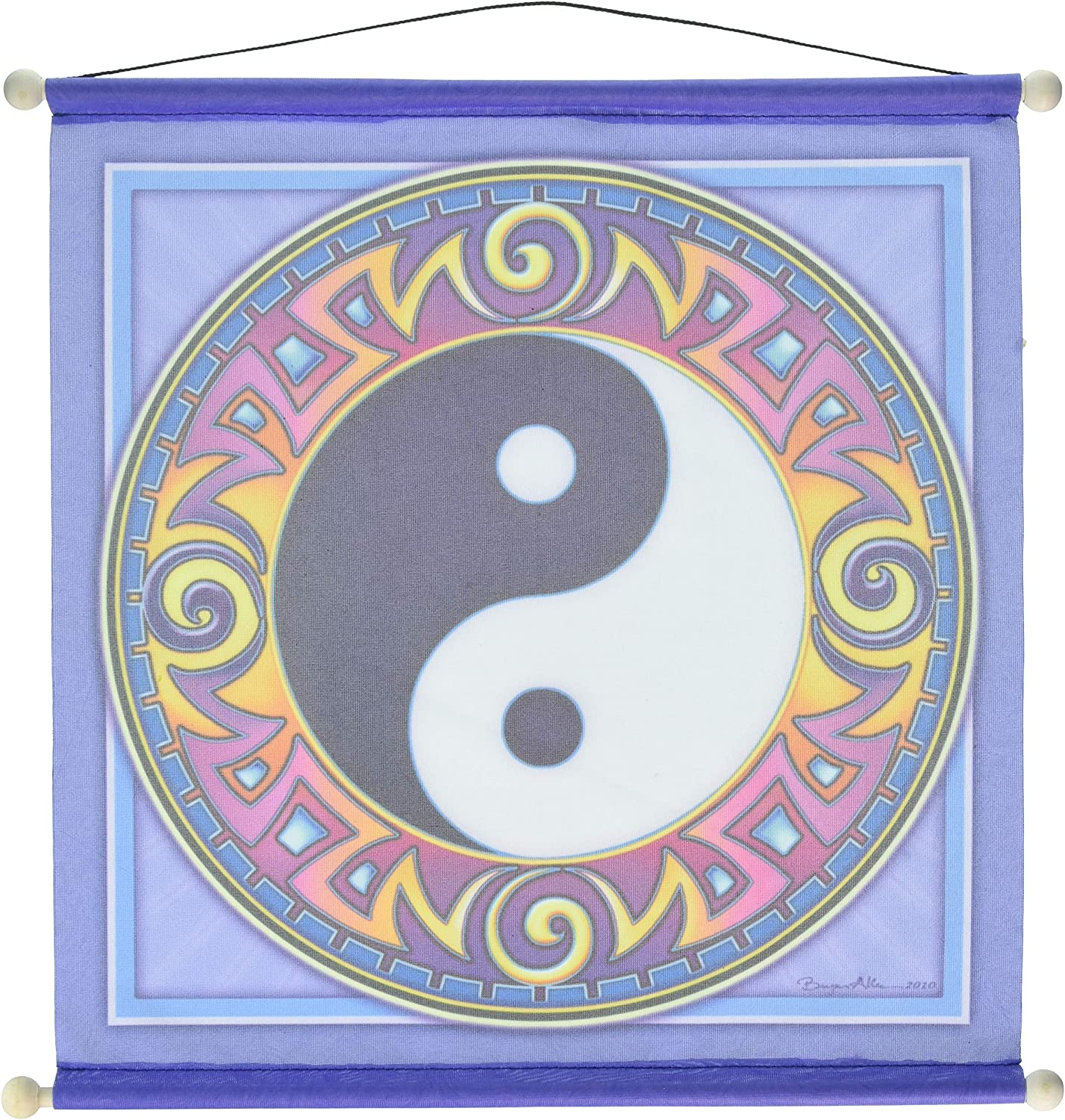 Amazon Com 15 X 15 Yin Yang Mandala Meditation Banner Wall Banners Kitchen Dining