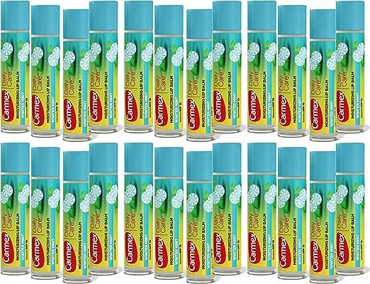 Carmex Daily Care Moisturizing Lip Balm, Winter Mint, SPF 15 (Pack of 24)