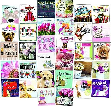 12 unidades Greetingles Juego de tarjetas de felicitaci/ón variadas