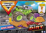 Monster Jam Grave Digger Monster Dirt Deluxe Set with Monster Dirt & 1:64 Scale Die-Cast Truck