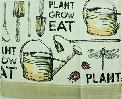 """Kitchen Dish Towel Whisk /& Spoon 2 Pack Tea Towel Set 100/% Cotton 16/"""" by 26/"""""""