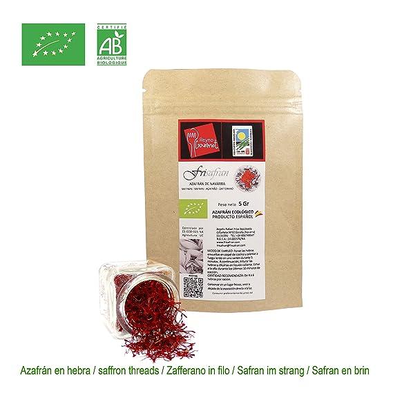 Azafran hebra 2 gr 100% Ecológico Español (2Gr): Amazon.es: Alimentación y bebidas