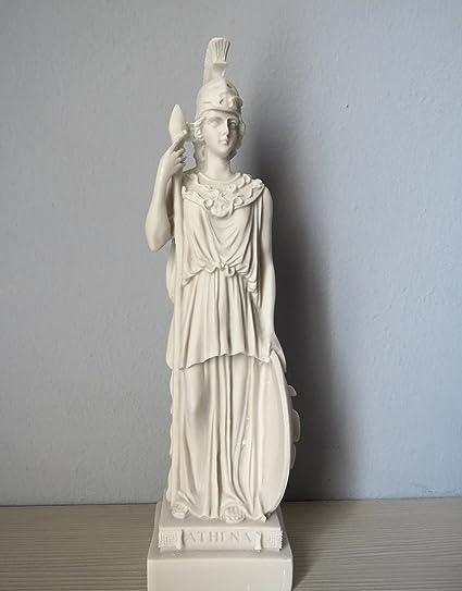 STATUA GRECA Athena Estatua Griega Diosa Griega Antigua (Estatua Decorativa de alabastro 25 cm)