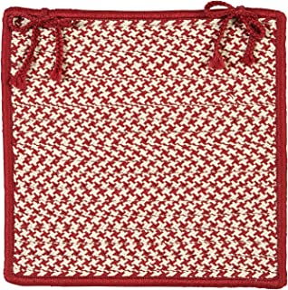 product image for Colonial Mills OT79 Print Party Rects Outdoor Houndstooth Tweed Chair Pad, 15 by 15-Inch, Sangria, 1-Pack