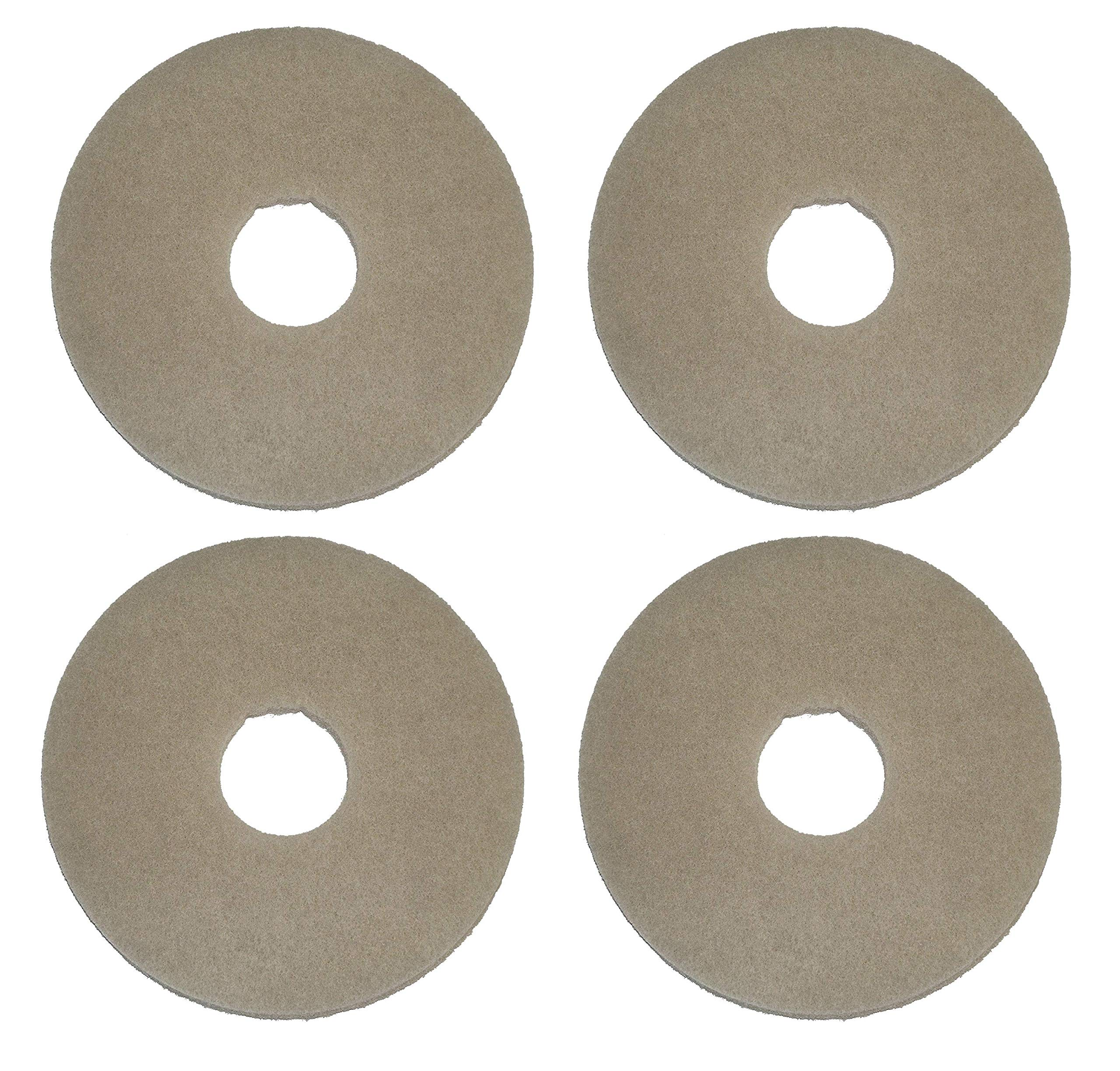 Oreck Commercial 437058 Stone Care Orbiter Pad, 12'' Diameter, Beige Marble, for ORB550MC Orbiter Floor Machine (Вundlе оf Fоur)