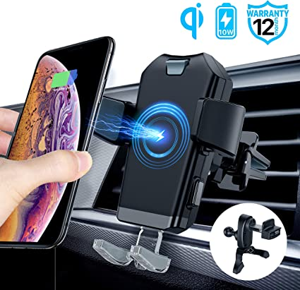 Samsung Galaxy Note 9 Note 8 Note S8 S8 Edge S9 S9 Plus Wireless Car Charger Mount Qi Charging Car Vent and Dashboard Auto Clamping Car Mount Compatible with iPhone 8 8plus X XR XS XS Max