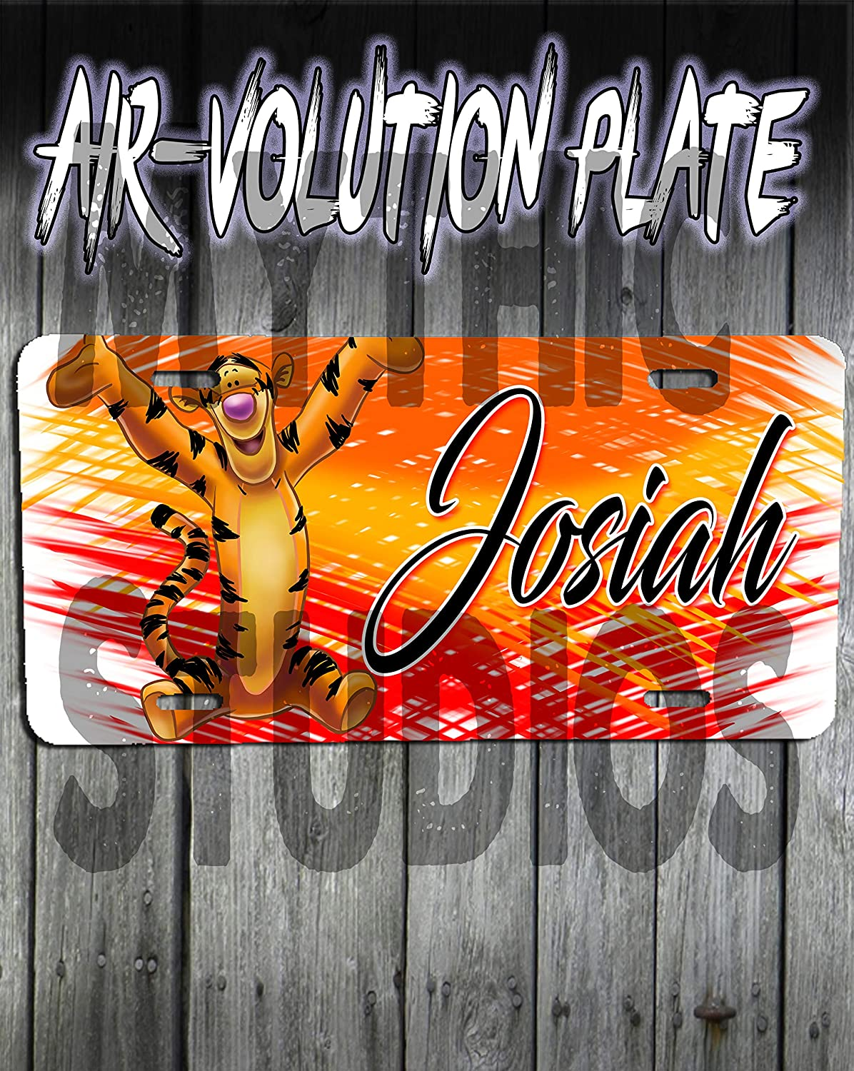 Personalized Airbrush Tigger License Plate Tags