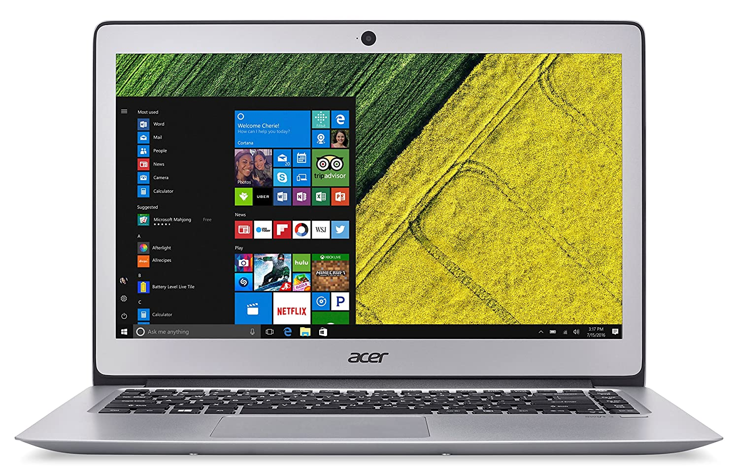 Acer NXF.021 Ultrabook - Ordenador portátil, Intel Core i5, 4 GB de RAM, 128 GB, Intel HD Graphics 620, Windows 10 Home, Gris, 14