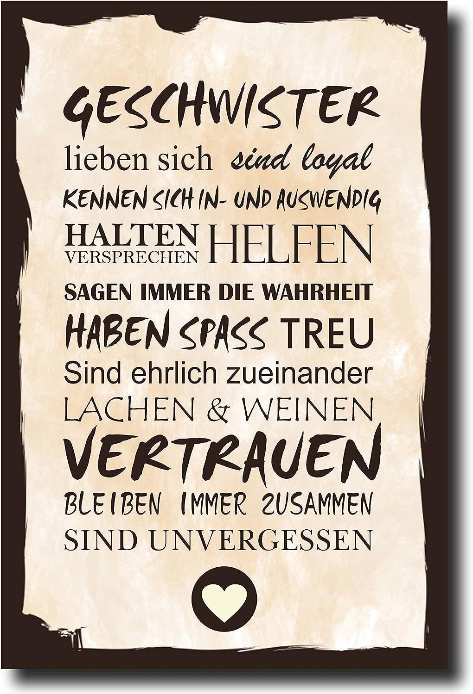 Wandschild Dekoschild Shabby Chic Vintage Geschenk HAUS ORDNUNG Druck 20 x 30 cm