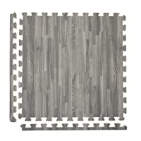 Incstores - Premium Soft Wood Interlocking Foam Tiles (2'x2') - Excellent for Trade...